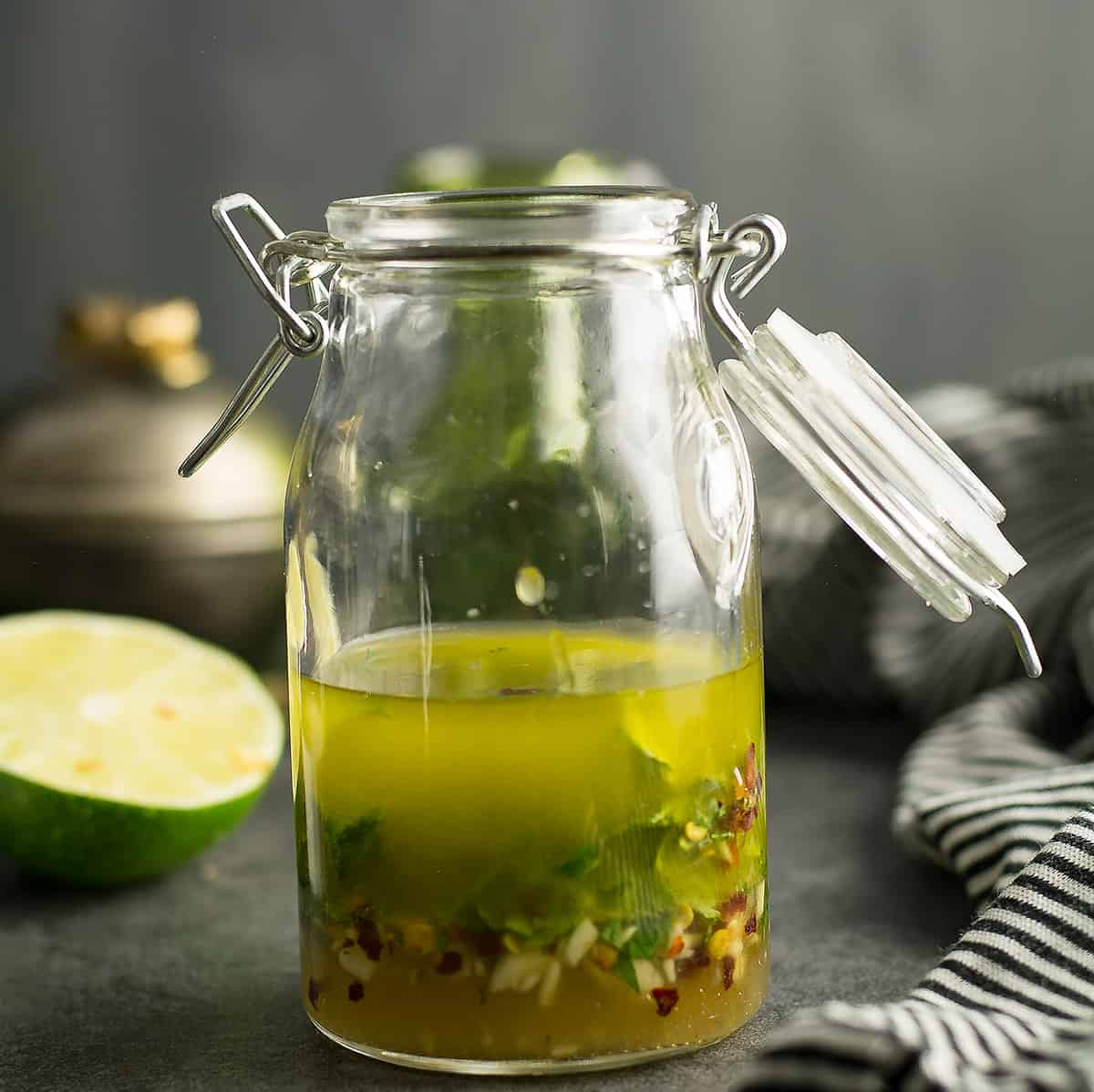 Make your meal amazing with this easy chili lime vinaigrette! It's versatile-great to use them as salad dressing, as a marinade or as a dip.