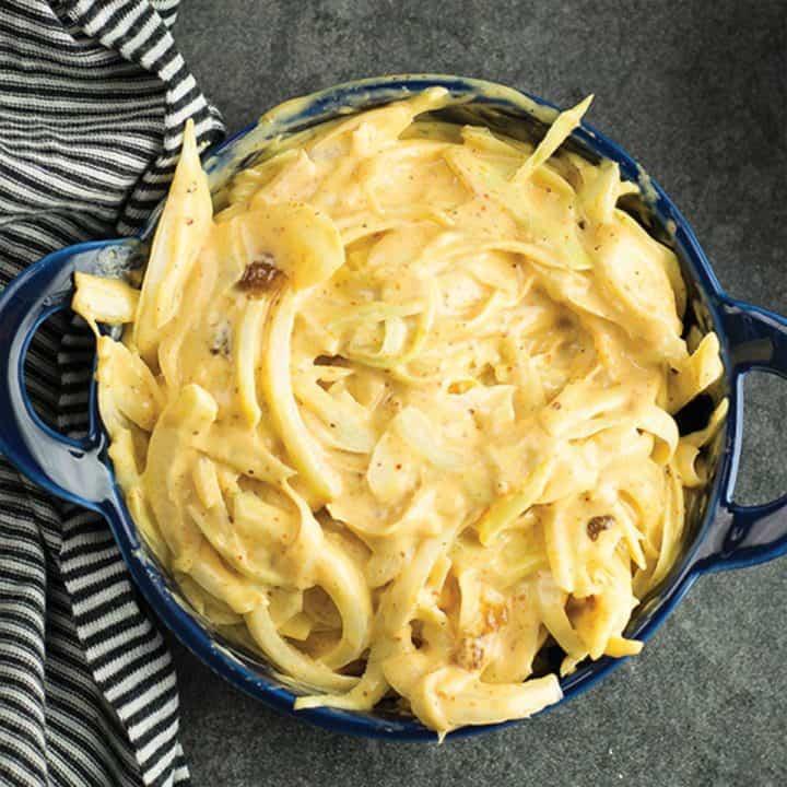cajun coleslaw, in a side bowl.