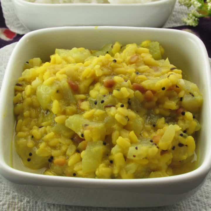 Chow chow kootu an amazing Indian side dish.