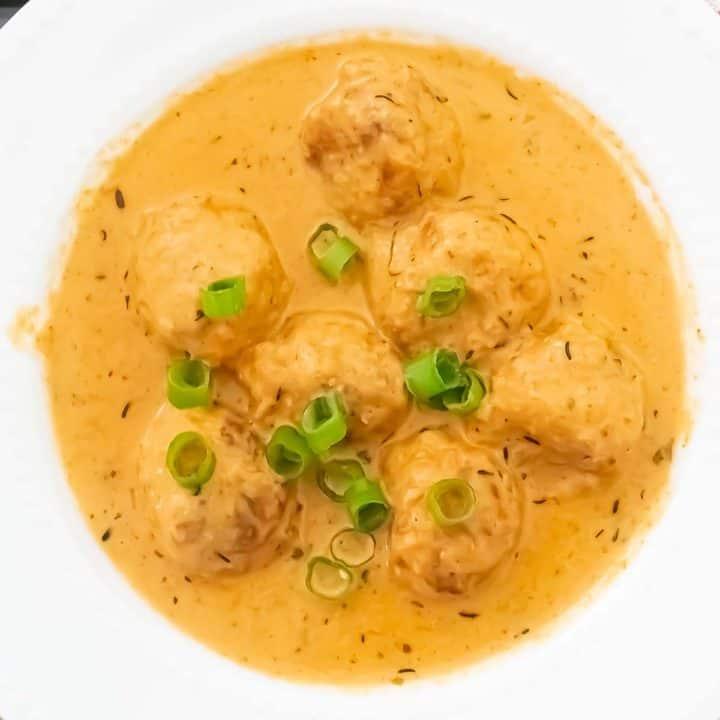 Malai Kofta Curry and creamy gravy