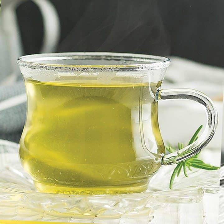 fennel tea in glass