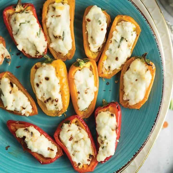goat cheese stuffed mini peppers