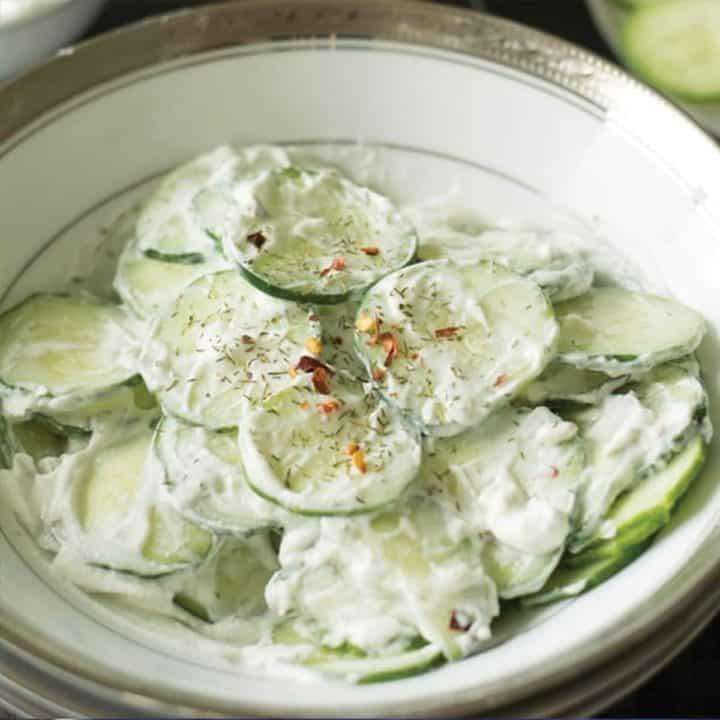 Greek yogurt cucumber salad