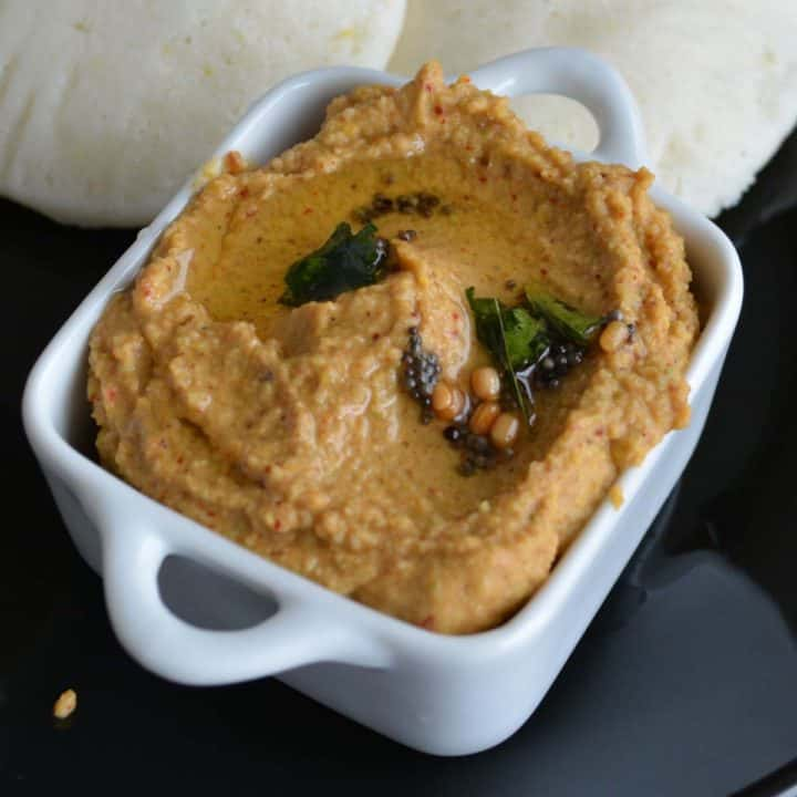Indian mango chutney, spicy and hot. Served with Indian breakfast.
