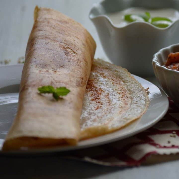Quinoa dosa, a best food to start the day